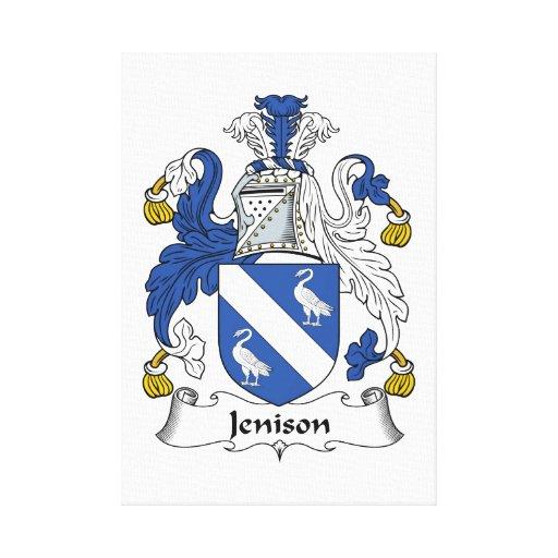 Escudo de la familia de Jenison Impresión En Lona
