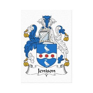 Escudo de la familia de Jenison Impresion De Lienzo