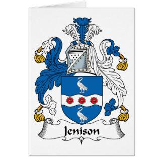 Escudo de la familia de Jenison Tarjeta De Felicitación