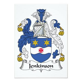 """Escudo de la familia de Jenkinson Invitación 5"""" X 7"""""""