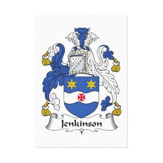Escudo de la familia de Jenkinson Impresiones En Lienzo Estiradas
