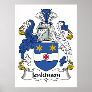 Escudo de la familia de Jenkinson Póster