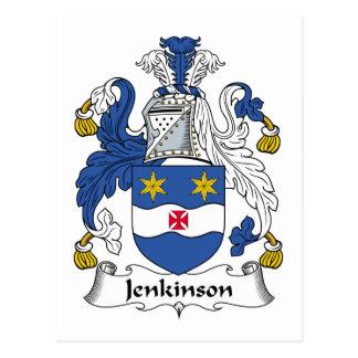 Escudo de la familia de Jenkinson Tarjeta Postal