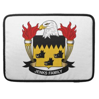 Escudo de la familia de Jenks Funda Para Macbooks