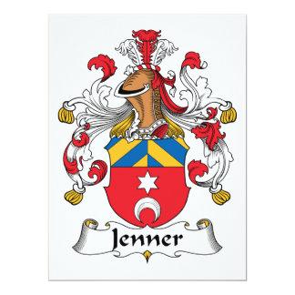 """Escudo de la familia de Jenner Invitación 6.5"""" X 8.75"""""""