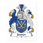 Escudo de la familia de Jenner Tarjeta Postal