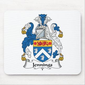 Escudo de la familia de Jennings Tapete De Raton