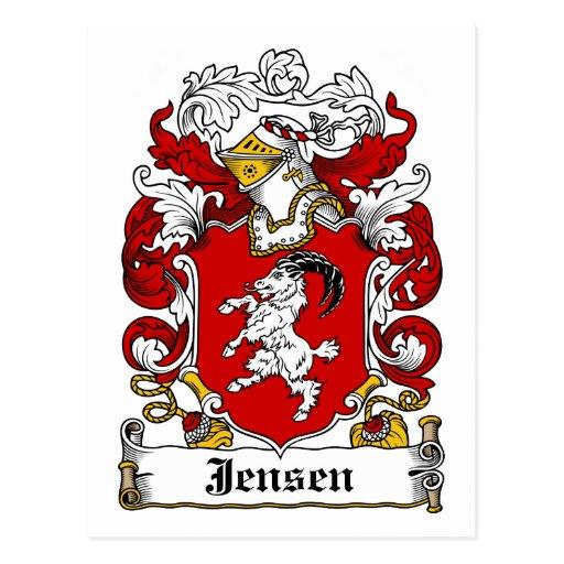 Escudo de la familia de Jensen Tarjeta Postal