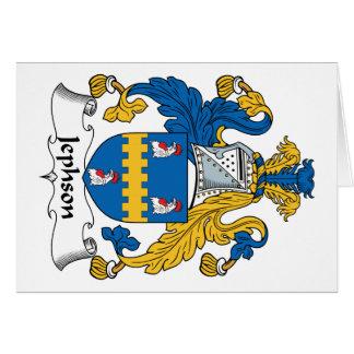 Escudo de la familia de Jephson Tarjeta De Felicitación