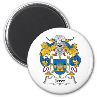 Escudo de la familia de Jerez Imán Redondo 5 Cm