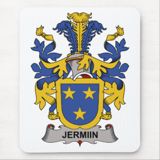 Escudo de la familia de Jermiin Alfombrillas De Raton