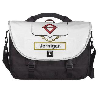 Escudo de la familia de Jernigan Bolsa De Ordenador