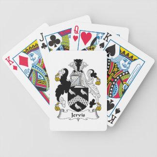 Escudo de la familia de Jervis Cartas De Juego