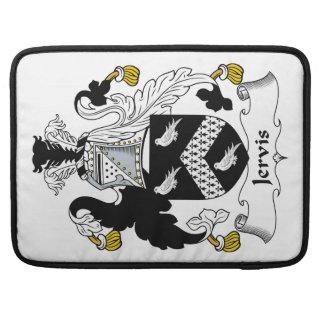 Escudo de la familia de Jervis Fundas Macbook Pro