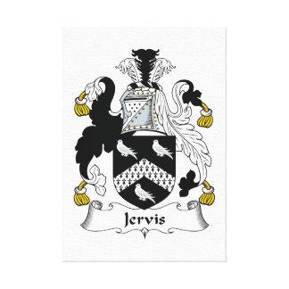 Escudo de la familia de Jervis Impresión En Lienzo Estirada
