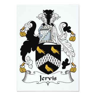 Escudo de la familia de Jervis Invitación 12,7 X 17,8 Cm