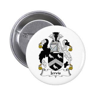 Escudo de la familia de Jervis Pin Redondo De 2 Pulgadas