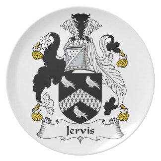 Escudo de la familia de Jervis Plato De Comida