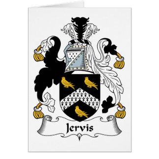 Escudo de la familia de Jervis Felicitación