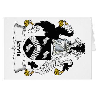 Escudo de la familia de Jervis Tarjeta De Felicitación