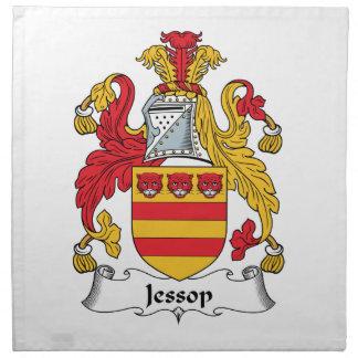 Escudo de la familia de Jessop Servilleta