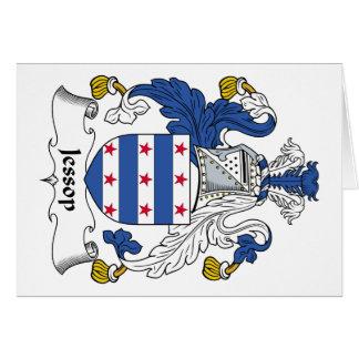 Escudo de la familia de Jessop Tarjeta De Felicitación