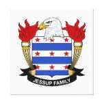 Escudo de la familia de Jessup Impresiones En Lona