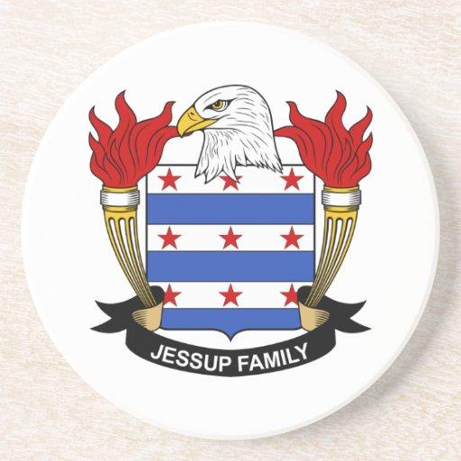 Escudo de la familia de Jessup Posavasos Cerveza