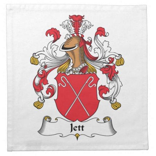 Escudo de la familia de Jett Servilleta Imprimida