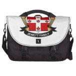 Escudo de la familia de Jewett Bolsas Para Portatil