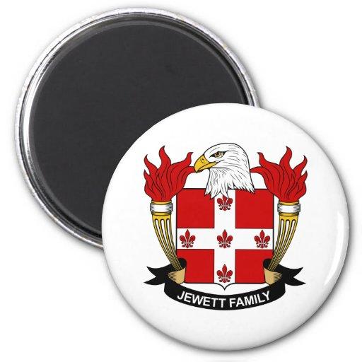 Escudo de la familia de Jewett Imán Redondo 5 Cm