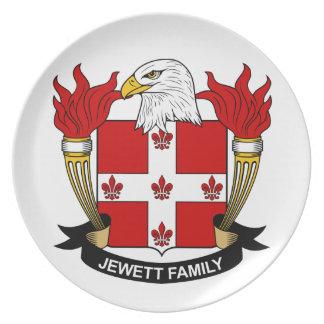 Escudo de la familia de Jewett Plato De Cena