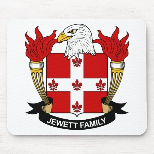 Escudo de la familia de Jewett Tapete De Raton
