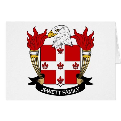 Escudo de la familia de Jewett Tarjeta De Felicitación