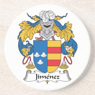 Escudo de la familia de Jiménez Posavasos Cerveza