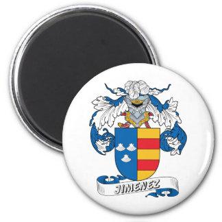 Escudo de la familia de Jiminez Imán Redondo 5 Cm