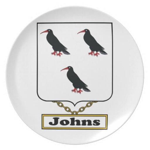 Escudo de la familia de Johns Plato De Comida