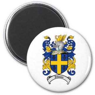 Escudo de la familia de Johnson - escudo de armas Imán Redondo 5 Cm