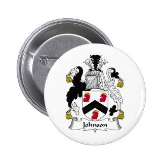 Escudo de la familia de Johnson Pin Redondo De 2 Pulgadas