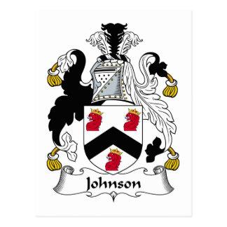 Escudo de la familia de Johnson Postales