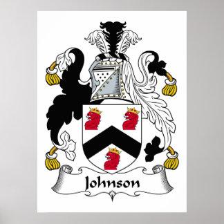 Escudo de la familia de Johnson Póster