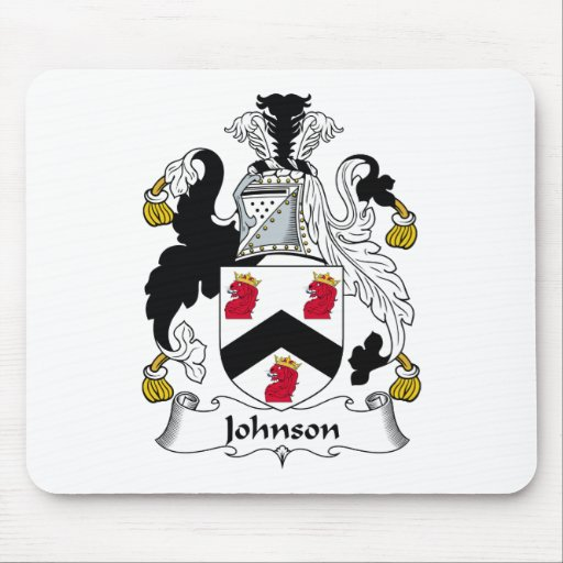 Escudo de la familia de Johnson Alfombrillas De Raton