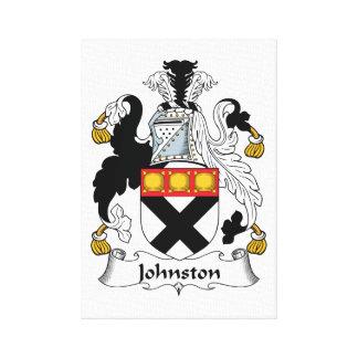 Escudo de la familia de Johnston Impresion En Lona