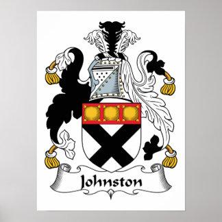 Escudo de la familia de Johnston Impresiones