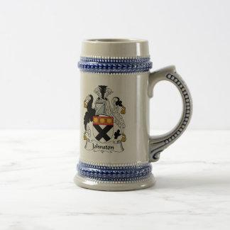 Escudo de la familia de Johnston Jarra De Cerveza