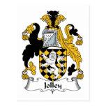 Escudo de la familia de Jolley Tarjetas Postales