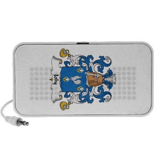 Escudo de la familia de Joly Laptop Altavoces