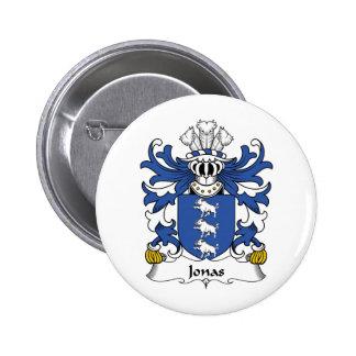 Escudo de la familia de Jonas Pin Redondo De 2 Pulgadas