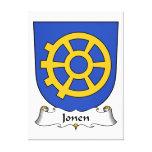 Escudo de la familia de Jonen Lona Envuelta Para Galerías