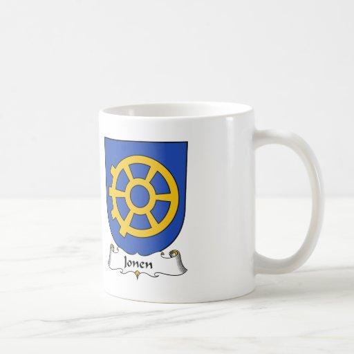 Escudo de la familia de Jonen Tazas De Café
